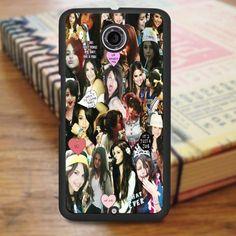 Selena Gomez Awesome Smile Collage Nexus 6 Case