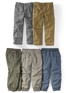 Tea's pants for Boy come in a range of colors that will match almost anything. They are tough enough for long days of play.