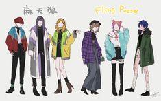 """倉吉サム@コミティア126【E09a】 on Twitter: """"マテンロとポッセも だいすはそのままの服が好き だからほぼ変えてない…… """" Mc Lb, Group Poses, Anime Poses, Rap Battle, Comic Games, Drawing Poses, Touken Ranbu, Manga, Female Characters"""
