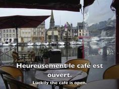 How to order Breakfast in French + Food and Drink Vocabulary, video clips of breakfast in France + free translation worksheet: Le Petit Déjeuner. A Green Mouse Food In French, French Cafe, French Teacher, Teaching French, Breakfast In French, Learn French Fast, English Talk, French Songs, Paris Travel Tips