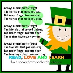 St. Patrick's Day Irish Blessing quote via www.Facebook.com/ReadLoveandLearn