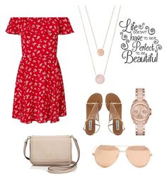 """""""💘'I keep a close watch on this heart of mine'💘"""" by pandilani on Polyvore featuring Miss Selfridge, Kate Spade, Linda Farrow, MICHAEL Michael Kors and Michael Kors"""