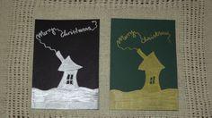Merry Christmas cards Merry Christmas Card, Artist, Handmade, Hand Made, Artists, Craft, Christmas Cards