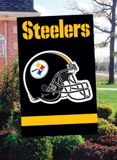 Fly your team colors proudly with this two sided all-weather Applique and Embroidered Banner Flag Attached hang tabs allow for multiple use. Perfect for home, dorm or stadium. Official licensed by NFL