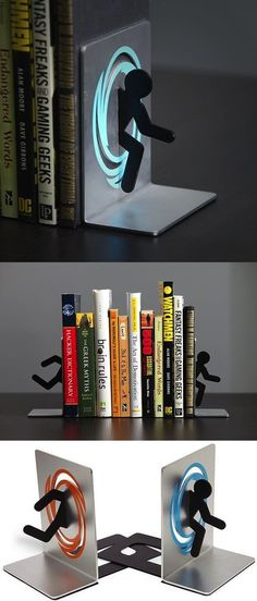 - Sujetalibros de Portal … Portal Bookends More -
