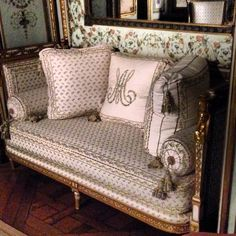 Daybed owned by Marie Antoinette. Metropolitan Museum of Art, NYC.