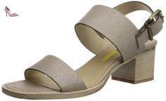 MANAS DIVA, Sandales Femme - Or - Platine - 36 EU - Chaussures manas (*Partner-Link)