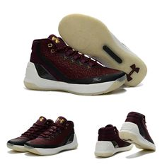 "February 17,2017 Shoes Sweater Under Armour Curry 3 ""Magi"" Maroon Metallic Gold"