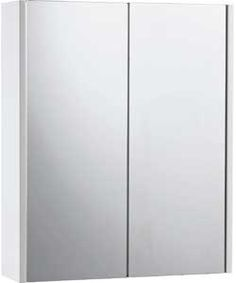 Living Double Mirrored Bathroom Cabinet - White.