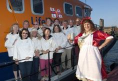 Cornish legend Betty Stogs supports the RNLI and the Falmouth Sea Shanty festival