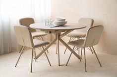 GIOVE, Ruokapöytä 120x120/165cm, nougat Decor, Dining Chairs, Chair, Dining, Home Decor, Furniture