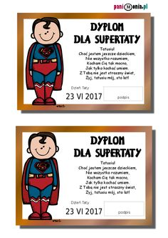dyplom dla taty Diy For Kids, Crafts For Kids, Dyi, Happy Quotes, Art Projects, Diy And Crafts, Kindergarten, Preschool, Gift Wrapping