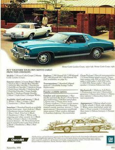 1974 Monte Carlo ad. Get the Landau version.
