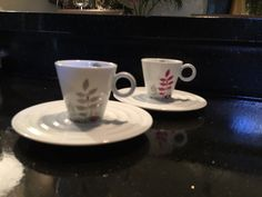 CHRISTIAN GHION For Nespresso Espresso Cups And Saucers ~ Set Of 2  | eBay