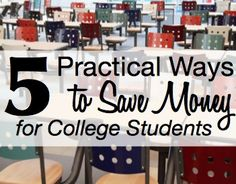 List of practical ways to save money for college students. #BacktoSchool #College