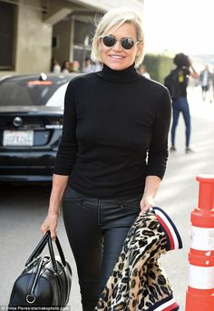 Proud mama: Yolanda Hadid, 53, headed to the Venice Beach boardwalk in Los Angeles in time for her daughter Gigi's rehearsal for the Tommy Hilfiger fashion event Wednesday