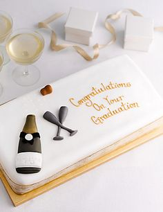 Buy the Personalised Congratulations Bar Cake (Serves from Marks and Spencer's range. Fruit Sponge Cake, Congratulations Cake, Personalised Cakes, Cake Servings, Girl Birthday, Birthday Cakes, Birthday Ideas, Celebration Cakes, Wine Recipes