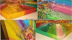 #CLOSE UP DETAILS of '' #Rainbow #Soul '' #ARTFINDER: #Art, #Abstract #Painting, #Mixed #Media #Relief by #JuliaApostolova  #contemporary #abstractpainting  #Floral  #Multicolored, #Surreal #Abstraction, #Modern #RichTexture, #Zen #CanvasArt #Acrylicpainting   #colorful #READYTOHANG You can #hang #now on your #wall. The may be hung either #vertically or #horizontal.