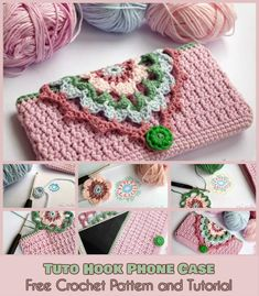 Tuto Hook Phone Case [Free Crochet Pattern and Tutorial]  Follow us for more free crocheting patterns and tutorials.
