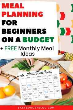 Beginner's Guide to Meal Planning on a Budget - Easy Budget Monthly Meal Planning, Budget Meal Planning, Meal Planner, Monthly Budget, Frugal Tips, Frugal Meals, Budget Meals, Meal Calendar, Lunch Items