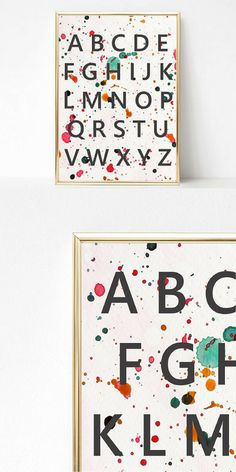 This alphabet print will add an education but decorative touch to your child's space. #print #alphabet #playroom #kidsroom #nursery #wallart #ad