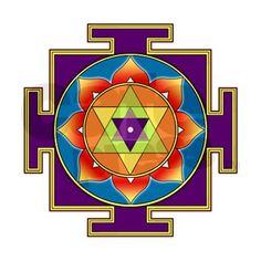 Sri Yantra Meaning | Sri Ganesha Yantra Rectangular Canvas Pillow by harmonicdesigns