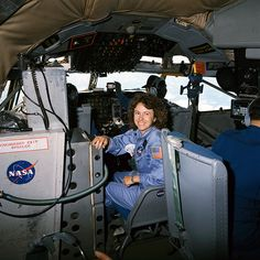 Sharon Christa McAuliffe Smiles Before Participating in Zero-G Rehearsals