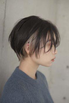 Asian Short Hair, Asian Hair, Girl Short Hair, Short Hair Cuts, Short Hair Tomboy, Japanese Short Hair, Edgy Hair, Tomboy Hairstyles, Hairstyles Haircuts