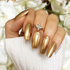 Trendy Summer Nail Designs For Exceptional Look - - 99 Great Nail Art Designs You Will Love This Fall Metallic Nails, Gold Nails, Acrylic Nails, Sally Hansen, Great Nails, Fun Nails, Photomontage, Gold Nail Designs, Nails Design