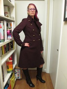 Leave it to a Russian full bust company to know how to make a warm AND stylish winter coat. Stylish Winter Coats, Secretary, Military, Warm, Hot, Jackets, Dresses, Fashion, Atelier