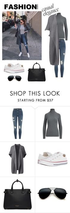 """""""Untitled #47"""" by inelah99 ❤ liked on Polyvore featuring River Island, Lands' End, Converse, Burberry, women, polyvor and plus size clothing"""