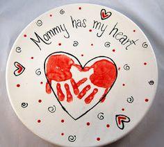 mother's day handprint plate keepsake