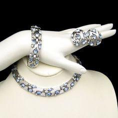 CROWN TRIFARI Vintage Parure Necklace Bracelet by MyClassicJewelry, $345.00