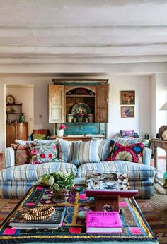colorful bohemian living room 9 More