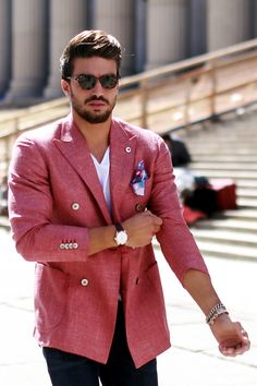 Mariano Di Vaio, an Italian fashion blogger, outside the Jeremy Scott show during New York Fashion Week. (Photo: Craig Arend for The New York Times)