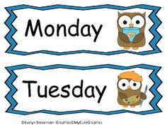 """Free Days of the Week! I love owls and have an """"owl"""" classroom! I thought it would be great to make a days of the week set with an owl theme. Each day has a different c. Owl Theme Classroom, Preschool Classroom, Classroom Ideas, Circle Time Board, Calendar Time, Pre Kindergarten, Classroom Environment, School Decorations, Beginning Of School"""