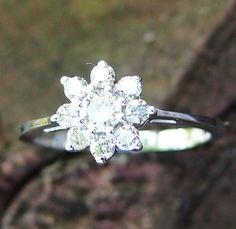 Vintage Style Diamond Snowflake Ring by Jacsfegems on Etsy, via Etsy.  I love this ring!!