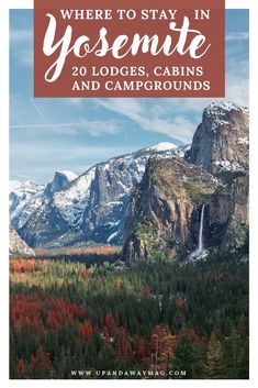 Where to stay in Yosemite National Park, California. 20 of the best places to stay in and near the national park ranging from lodges to cabins to campgrounds and glamping. The best of California's national parks. Hotel California, California Places To Visit, Cool Places To Visit, California Travel, Best National Parks Usa, California National Parks, Zion National Park, Yosemite National Park Cabins, Cabins Near Yosemite
