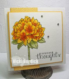 Wednesday, May 20, 2015 It's a Stamp Thing: You're in my Thoughts; Stampin' Up! Best Thoughts (Hostess)