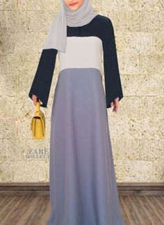 Amreen Tricolor Abaya Dress