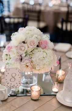 Wedding centerpiece idea; Featured Photographer: Dan and Melissa Photography