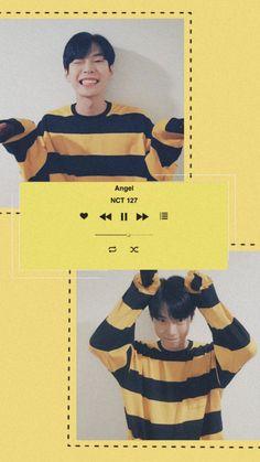 Doyoung wallpaper Wallpaper Pictures, Bts Wallpaper, Aesthetic Pastel Wallpaper, Aesthetic Wallpapers, Kpop Aesthetic, Aesthetic Art, Nct 127, Nct Doyoung, Minimalist Wallpaper
