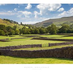 Be surrounded by beautiful countryside with this custom-made Rural Yorkshire wallpaper. FREE UK delivery within 2 to 4 working days. Yorkshire Dales, Yorkshire England, North Yorkshire, Countryside Wallpaper, Walking Holiday, Loch Lomond, Snowdonia, English Countryside, Beautiful Islands