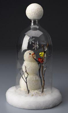Make a Snowman Cloche from a Soda Bottle (plus seven more snowman crafts)