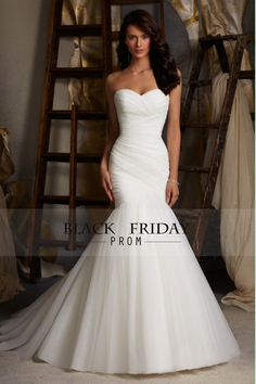 2015 Delicate Sweetheart Mermaid/Trumpet Prom/Wedding Dresses Pleated Bodice With Tulle Skirt Lace Up