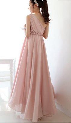 One Shoulder Chiffon Maxi Dress in High Waist Chiffon Maxi Dress, Bridesmaid Dresses, Wedding Dresses, Up Girl, Dream Dress, Costume Design, Dress To Impress, Dress Up, Cute Outfits