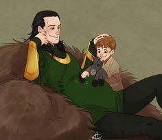 Loki and Narvi (and Vali) ♡