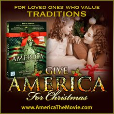 Christmas Tradition #8: Gift giving. Facebook Christmas campaign for the Dinesh D'Souza film, AMERICA: Imagine the World Without Her.