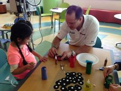 Kids of NASCAR: David Gilliland and David Ragan's brought smiles to kids' faces during Chicago race week.  Gilliland visited Lurie Children's Hospital with Love's Travel Stops & Country Stores, and Ragan visited Shriners Hospitals for Children.  #nascar