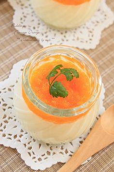 オレンジ・チーズプリン (1)